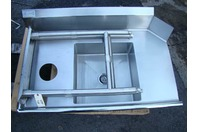 "Stainless Select Soiled Dish Sink with Backsplash NSF, UL, 46"" x 27"""