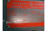 General Electric DC Motor Shunt Wound 1kw 850Rpm 230V CD189AT 5CD145BA800B800