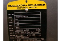 Baldor Reliancer Motor 40hp 200V 108amps 3520rpm 3ph 40L08X780G1 M14645