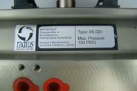 RADIUS PNEUMATIC ACTUATOR  120PSIG AS-020 w/ PBM Control link Monitor AS-020