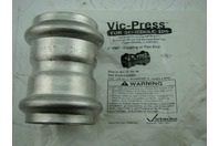 """VICTAULIC - VIC-PRESS SS 2"""" COUPLING W/ PIPE STOP P597"""