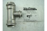 "VICTAULIC - VIC-PRESS SS 1"" X 1"" X 3/4"" P593 - TEE W/REDUCING BRANCH"