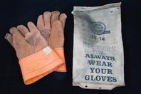 "Salisbury Koppers Co. lineman leather gloves 10/9.5""  35-14 120-C"