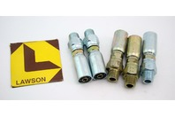 (5) Lawson 3/8x3/8 Hydraulic Fitting Male Pipe Swivel 88269