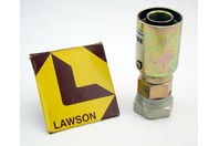 (2) Lawson 1x1 Hydraulic Crimp Fitting Female Straight 88306