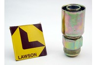 Lawson 1-1/4 x 1-1/8 Crimp Fitting Male JIC37 Straight 88350