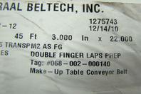 Ammeraal Beltech 45ft Wonder/Hostess Conveyor Belt Double Finger Laps Prep