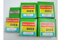 (6) Dies Right Hand Carbon Steel Hexagon Set, Size: 5/8, 3/4, 1/8, 7/8, 1,1  999