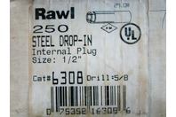"(250) Rawl Internal Plug Steel Drop-IN 1/2""  6308"