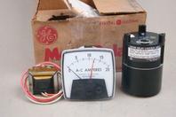 """General Electric 3"""" AC Amps Meter, 0-20, Rectifier Type, Meter Relay , 8604K10"""