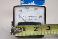 "General Electric 2.5"" AC Amps Panel Meter, 0-400 , L530FW2153104"
