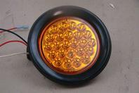 """Buyers LED 4"""" Round Strobe Amber  12-24vDC, SL40AR"""