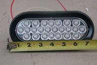 "Buyers 6"" Oval LED Backup Light, Clear  12-24vDC, 562624"