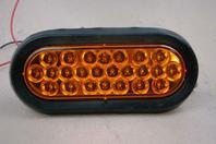 """Buyers 6"""" Oval LED Amber Strobe Light  12-24vDC, SL65AO 001"""