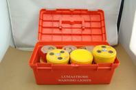 (6) Lumastrobe Portable Battery Powered Warning Lights , LX-18