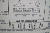 GE 45kVA Transformer, 3PH Pri: 480v, Sec: 208/120v, 9T23B3873