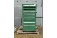 Stanley Vidmar  10 Drawer Industrial Storage Chest Green , Cabinet