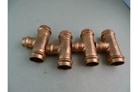 (4) Viega ProPress  Copper Tee Fitting Lot  , PERC