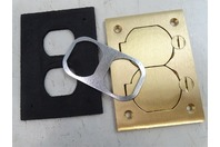 Hubbell  Floor Box Cover Rectangular Duplex Flap , S3825