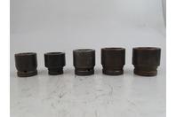 """(5) Proto  6-Point Impact Sockets  1-7/16"""" to 1-13/16"""" 3/4"""" & 1"""" Drive, Socket"""