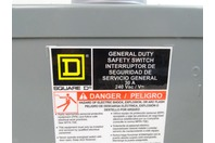 Square D  30A General Duty Safety Switch 240v 1-PH , DU221RBUP