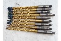 (9) Melcut  Tin Coated Step Drill Bit, Morse Shank , HP-00103