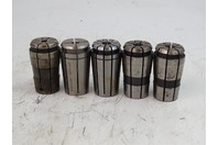 (5) Assortment  Machinist Milling Collet , 11/32, 3/8, 25/64, 7/16,