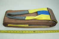 "6"" x 20' Brown Heavy Duty Nylon Sling Tow Recovery Strap 12,000 lbs Single Ply"