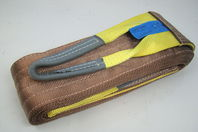 """6"""" x 20' Brown Heavy Duty Nylon Sling Tow Recovery Strap 12,000 lbs Single Ply"""