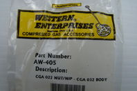 Western Enterprises CGA 022 Nut/Nip - CGA 032 Body AW-405