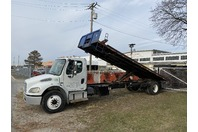 2008 Freightliner M2 Flatbed Dump Rollback Truck 33,000 GVWR
