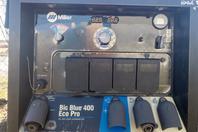 Miller Big Blue 400 Eco Pro DC Welder CC/CV, 2012 Mitsubishi Diesel & Trailer