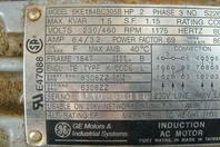 GE 2HP Induction Motor 230/460, 5KE184BC305B
