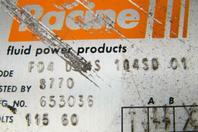 Pacine  Hydraulic Valve Volta 115 , FD4 DHHS 104SD 01