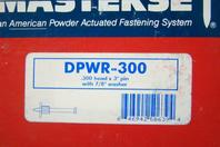 "(400) Masterset Inc. .300 head x 3"" pin with 7/8"" washer  , DPWR-300"