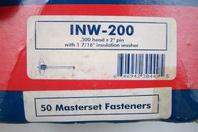 "Masterset Inc.  .300 head x 2"" pin with 1 7/16 insulation  washer  , INW-200"