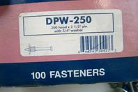 "Masterset Inc.  .300 head x 2 1/2"" pin with 3/4"" washer  , DPW-250"