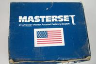 "Masterset Inc.  Fasteners  .300 head x 1"" pin with 3/4"" conduit strap , CC75-DP100"