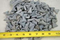 ( 3-1/2 Lbs ) Ceramic Triangle Tumbling  , Media