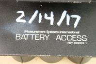 Measurement Systems International  Rechargable Battery Access  , C00502-1