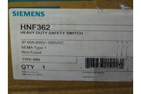 Siemens  Non-Fusible Heavy Duty Safety Swtich  600V , 60 Amps, Type 1 , HNF362