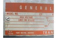 General Electric  .5 KVA Transformer 600x120/240v , 9T2181017