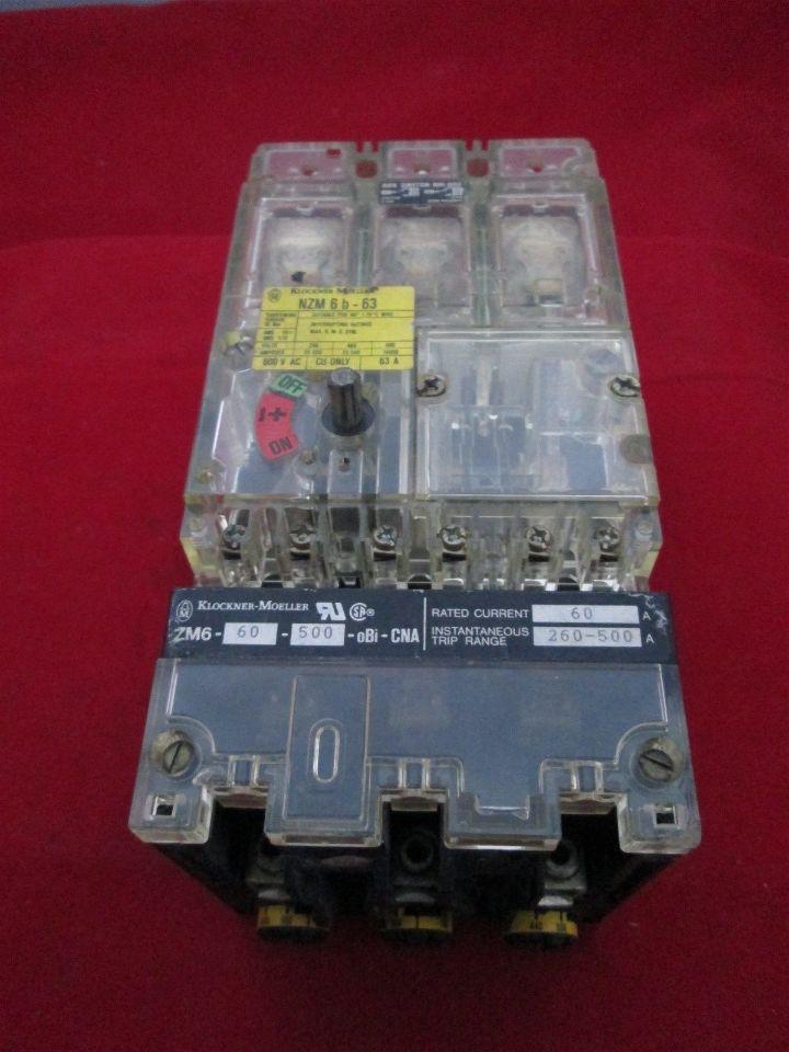 Moeller Nzm 6b 63 Circuit Breaker Process Industrial Surplus