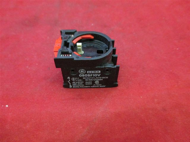 General Electric Cema  080BF10V Contact Block