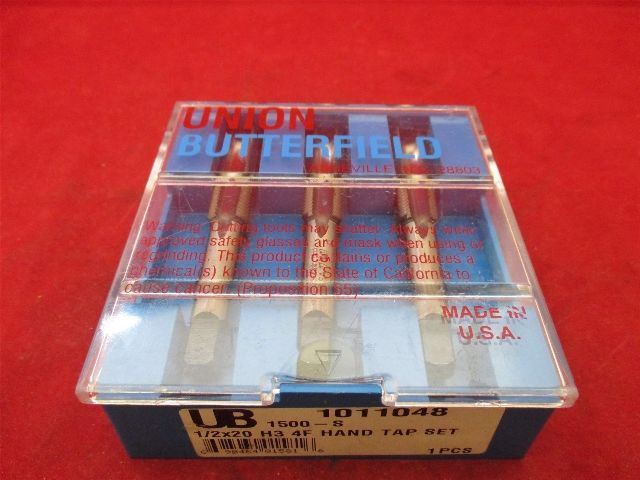 Union Butterfield 1011048 1/2-20 H3 4F Hand Tap Set 1500-S