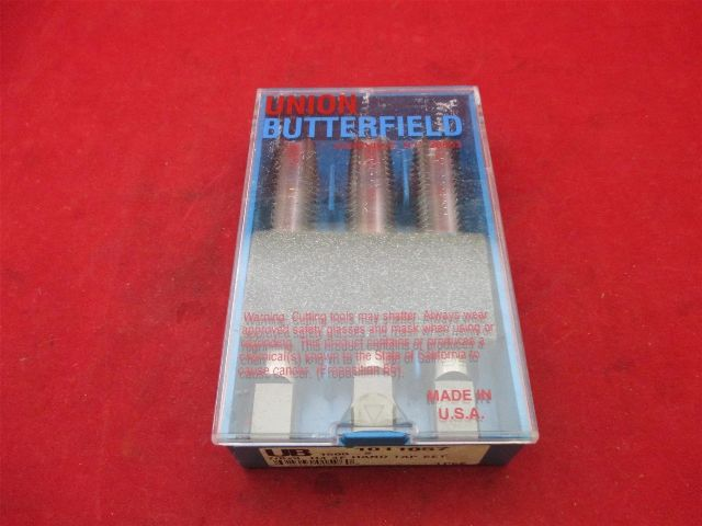 Union Butterfield 1011057 7/8x9 H4 4F hand Tap set 1500-S