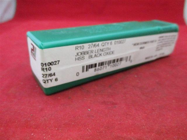 Precision 010027 Jobber Length R10 27/64  HSS Black Oxide