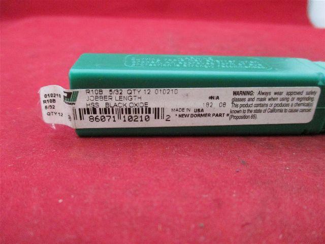 Precision Jobber Length R10B 5/32 010210 HSS Black Oxide
