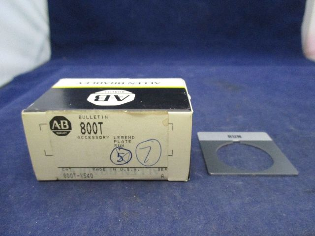 Allen Bradley 800T-X540 Legend Plate qty 7  new