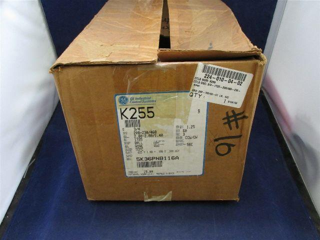 GE K255 5K36PNB116A Motor new